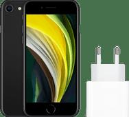 Apple iPhone SE 128GB Zwart + Apple Usb C Oplader 20W