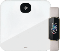 Fitbit Luxe White + Fitbit Aria Air White
