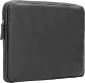 BlueBuilt 14 inch Laptophoes breedte 33 cm - 34 cm Leer Zwart Laptophoezen voor 14 inch laptops