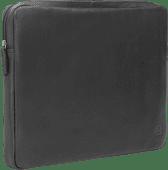 BlueBuilt 17 inch Laptophoes breedte 39 cm - 40 cm Leer Zwart Laptophoezen voor 17 inch laptops