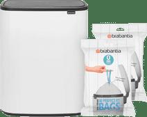 Brabantia Bo Touch Bin 2 x 30 Liter Wit + Vuilniszakken (80 stuks)