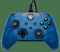 PDP Bedrade Controller Xbox Series X en Xbox One Blauw Camo Xbox Series X en Series S controller