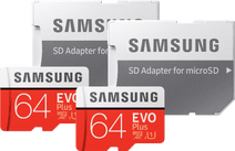 Samsung microSDXC EVO Plus 64GB + SD adapter Duo Pack