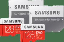 Samsung MicroSDXC EVO Plus 128GB + SD Adapter Duo Pack