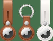 Apple AirTag Hanger Duo Pack + Leren Sleutelhanger