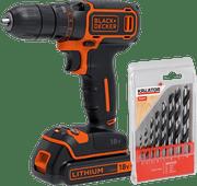 BLACK+DECKER BDCDC18-QW+ 8-piece Drill Set (wood)