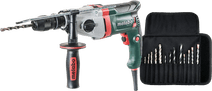Metabo SBE 850-2 + 13-piece Drill Set (wood/metal/stone)