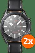 Just in Case Samsung Galaxy Watch3 45 mm Protège-écran Verre Lot de 2