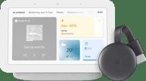 Google Nest Hub 2 Chalk + Google Chromecast 3 Google Home speaker
