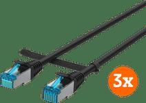 BlueBuilt Netwerkkabel STP CAT6 3 meter Zwart 3-Pack
