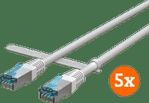 BlueBuilt Netwerkkabel STP CAT6 1 meter Wit 5-Pack
