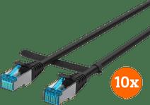 BlueBuilt Netwerkkabel STP CAT6 1 meter Zwart 10-Pack