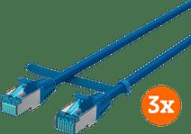 BlueBuilt Netwerkkabel STP CAT6 0,5 meter Blauw 3-Pack