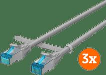 BlueBuilt Netwerkkabel STP CAT6 0,5 meter Grijs 3-Pack