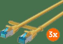 BlueBuilt Netwerkkabel STP CAT6 1 meter Geel 3-Pack