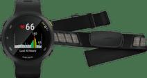 Garmin Forerunner 45 Zwart + Garmin HRM-DUAL Hartslagmeter Borstband Zwart