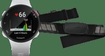 Garmin Forerunner 45S Wit + Garmin HRM-DUAL Hartslagmeter Borstband Zwart