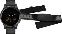 Garmin Vivoactive 4 Zwart 45 mm + Garmin HRM-DUAL Hartslagmeter Borstband Zwart