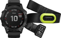 Garmin Fenix 6 Pro - Zwart - 47 mm + Garmin HRM-Pro Hartslagmeter Borstband Groen