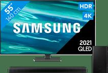 Samsung QLED 55Q80A (2021) + Barre de Son