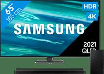 Samsung QLED 65Q80A (2021) + Barre de Son