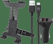 Trust Appui-tête Support Tablette Universel + Chargeur de Voiture avec Câble USB-C