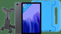 Samsung Galaxy Tab A7 64GB Wifi + 4G Grijs + Kinderhoes + Autohouder