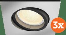 Philips Hue Centura Inbouwspot White & Colour vierkant aluminium 3-Pack