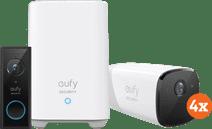 Eufycam 2 Pro 4-Pack + Video Doorbell Battery