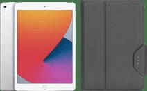 Apple iPad (2020) 10.2 inches 128GB WiFi + 4G Silver + Targus VersaVu Book Case Black