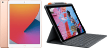 Apple iPad (2020) 10.2 inch 128 GB Wifi Goud + Logitech Toetsenbord Hoes AZERTY