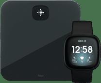Fitbit Versa 3 Zwart + Fitbit Aria Air Zwart