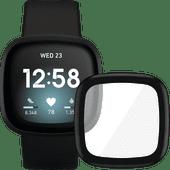 Fitbit Versa 3 Zwart + PanzerGlass Fitbit Sense, Versa 3 Screenprotector Glas Zwart