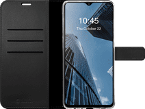 Valenta Gel Skin Samsung Galaxy A12 Book Case Leer Zwart