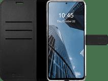 Valenta Gel Skin Samsung Galaxy S21 Book Case Leer Zwart
