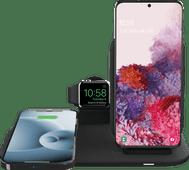 Mophie 3-in-1 Draadloze Oplader 15W met Standaard en Houder voor Apple Watch Oplader