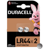 Duracell Specialty LR44 Alkaline-knoopcelbatterij 1,5V 2st