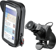 Lampa Opti-Belt Telefoonhouder Stuur Fiets/Motor + Universeel Telefoonhoesje Leer