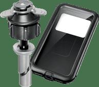 Lampa Opti-Tube Telefoonhouder Motor 10 mm - 13,3 mm + Waterdicht Kunststof Telefoonhoesje