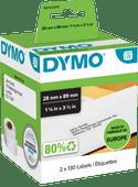 DYMO Authentieke LW Adreslabel Wit (28 x 89 mm) 2 Rollen