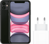 Apple iPhone 11 128GB Zwart + Apple Usb C Oplader 20W