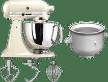 KitchenAid Artisan Mixer 5KSM125 Amandelwit + Roomijsmaker