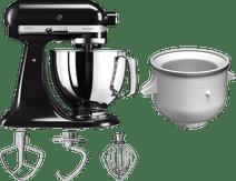 KitchenAid Artisan Mixer 5KSM125 Onyx Zwart + Roomijsmaker