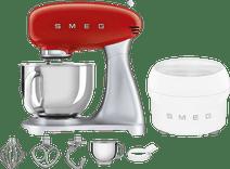 SMEG SMF02RDEU Rood + IJsmaker