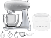 SMEG SMF02SVEU Zilver + IJsmaker