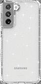 ITSkins Hybrid Samsung Galaxy S21 Back Cover Transparant Glitter