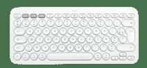 Logitech K380 voor Mac Bluetooth Multi-device Toetsenbord Wit Azerty