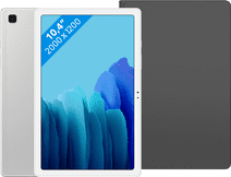 Samsung Galaxy Tab A7 64GB Wifi Zilver + Samsung Book Case Zwart