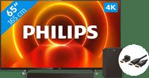 Philips 65PUS7805 - Ambilight + Barre de Son + Câble HDMI