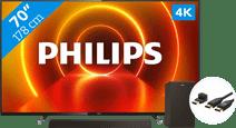 Philips 70PUS7805 - Ambilight + Barre de Son + Câble HDMI